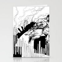 maze runner Stationery Cards featuring Runner by Michael Tuck