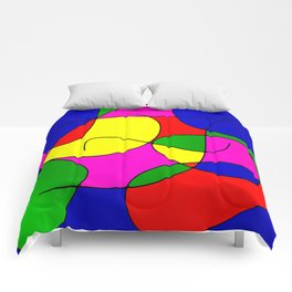 ABSTRACT CURVES #1 (Multicolor Bright) Comforters