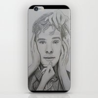 cumberbatch iPhone & iPod Skins featuring Benedict Cumberbatch by The Expression Studio