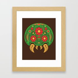 Dios De Los Metroids Framed Art Print