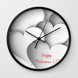 background paper hearts Wall Clock