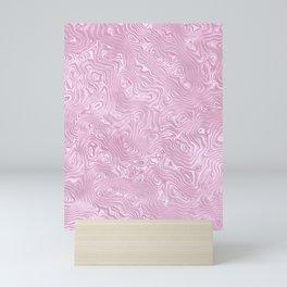 Powder Pink Silk Moire Pattern Mini Art Print