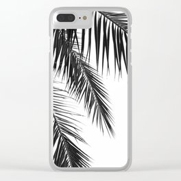 Black and White Leaves Clear iPhone Case