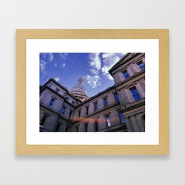 CAPITOL OF MI 2 Framed Art Print