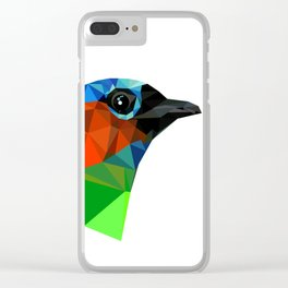 Bird art Saira Nature Animals Geometric Clear iPhone Case