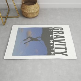 Gravity Is A Myth Rock Wall Climbing Rug