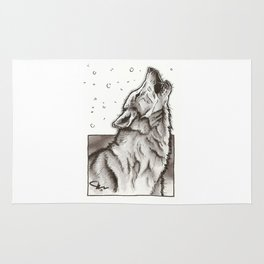 Howling Wolf Rug