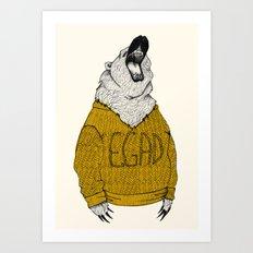 Exclaiming Roaring Bear Art Print