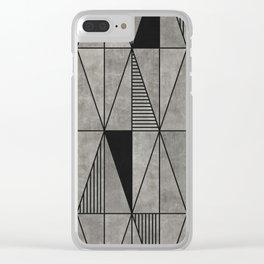 Concrete triangles Clear iPhone Case