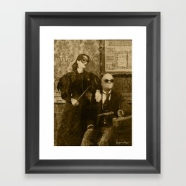 Dark Victorian Portrait: The Specialists Framed Art Print