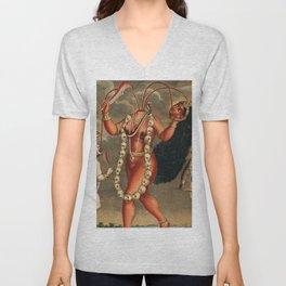 Chhinnimasta Hindu Goddess of Contradiction Unisex V-Neck
