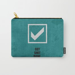 Lab No.4 -Get Shit Done Corporate Start-up Quotes poster Carry-All Pouch