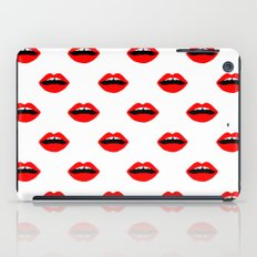 Lips minimal pattern cute gift for valentines day love lipstick iPad Case