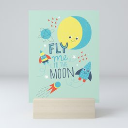 To The Moon And Back Mini Art Print
