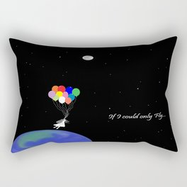 If I could only Fly-Moon series Rectangular Pillow
