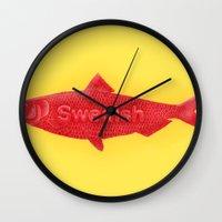 swedish Wall Clocks featuring Swedish Fish by Chase Kunz