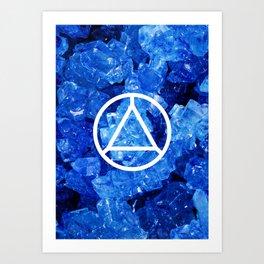 Sapphire Candy Gem Art Print
