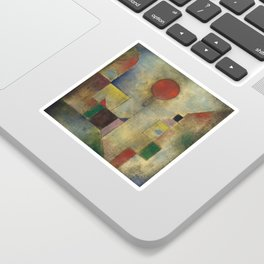 Red Balloon by Paul Klee Sticker