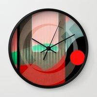 courage Wall Clocks featuring Courage by Kristine Rae Hanning