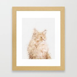 Cat Watercolor Framed Art Print