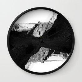Man of isolation Wall Clock