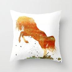 HORSES -Wild mountain pony Throw Pillow