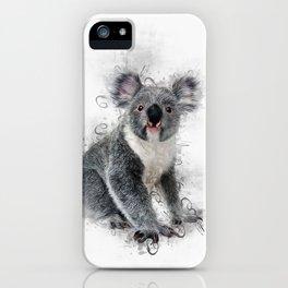 Koala Bear Art iPhone Case