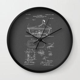 Rocking Oscillating Bathtub Patent Engineering Drawing Wall Clock
