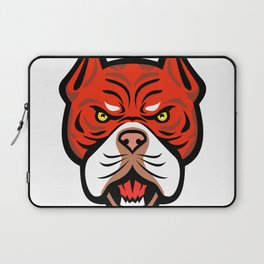 Red Tiger Bulldog Head Front Mascot Laptop Sleeve