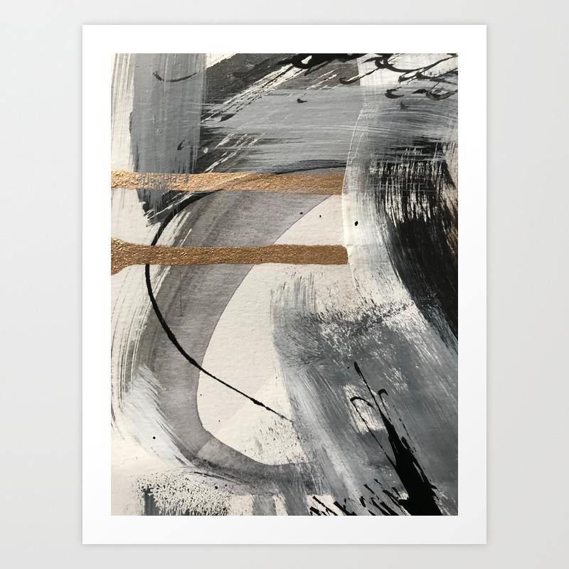 Armor [7]: A Bold Minimal Abstract Mixed Media Pie… Art Print by Blushingbrushstudio