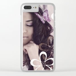 'He will quiet you with His love' Clear iPhone Case