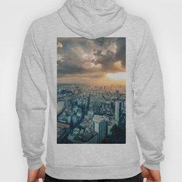 sunset over city Hoody