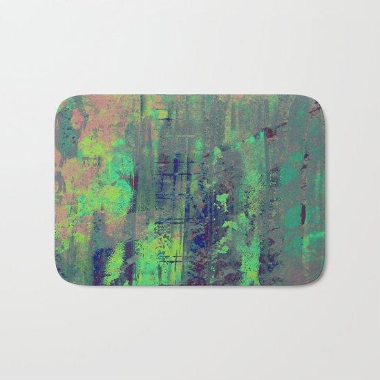 Aqua Abstract Bath Mat