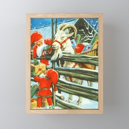"""Billy Goat Helper"" by Jenny Nystrom Framed Mini Art Print"