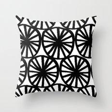 Black circles Throw Pillow