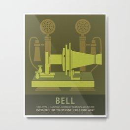 Science Posters - Alexander Graham Bell - Inventor, Engineer Metal Print