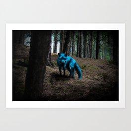 Just a blue Fox Art Print