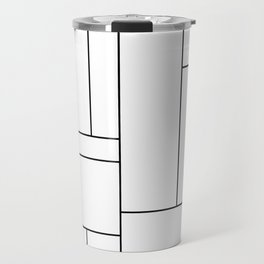 Geometric Abstract - Rectangulars (Black) Travel Mug