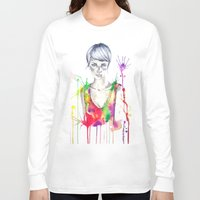 acid Long Sleeve T-shirts featuring acid by Lua Fraga