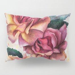 Fresh Tea Roses Pillow Sham