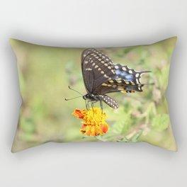 Black Swallowtail Butterfly Rectangular Pillow