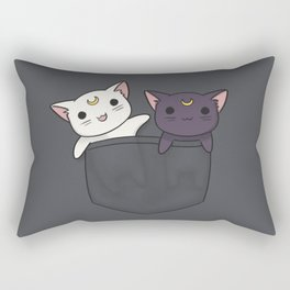 Pocket Kitties Rectangular Pillow