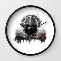 assassins creed Wall Clocks featuring assassins creed ezio auditore by ururuty