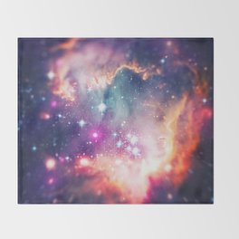 The Universe under the Microscope (Magellanic Cloud) Throw Blanket