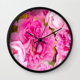 Large Pink Peony Flowers #decor #society6 #buyart Wall Clock