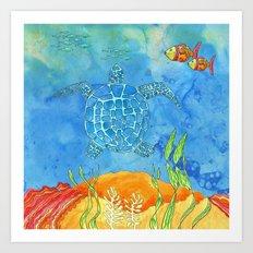 Secret Turtle Art Print