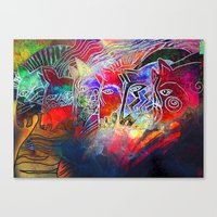 into the wild Canvas Prints featuring wild by KrisLeov