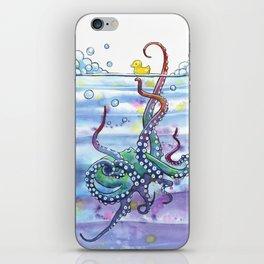Bath Time Octopus iPhone Skin