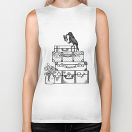 Stacked Suitcases Biker Tank
