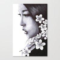 sakura Canvas Prints featuring Sakura by Nester Formentera